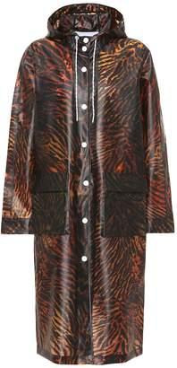 Ganni Tiger-print raincoat