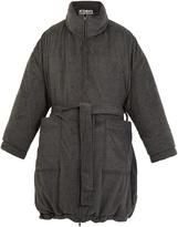 Vetements Reversible tie-waist wool-blend fleece robe coat