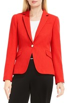 Vince Camuto Women's Grid Texture One-Button Blazer