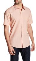 Zachary Prell Isidro Short Sleeve Printed Trim Fit Shirt