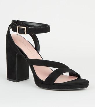 New Look Suedette Strappy Block Heels