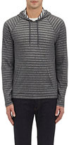 John Varvatos Men's Striped Knit Hoodie