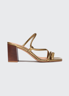 Emme Parsons Brera 60mm Metallic Napa Wooden Block-Heel Sandals