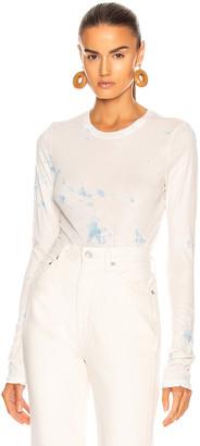 Raquel Allegra Long Sleeve Tee in Clouded Blue Tie Dye | FWRD