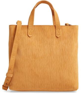 Madewell The Zip-Top Transport Corduroy Suede Crossbody Bag