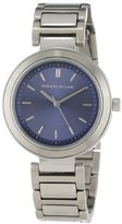 Kenneth Jay Lane Women's KJLANE-2020 Blue Sunray-Dial Stainless Steel Watch