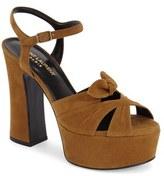 Saint Laurent Women's 'Candy' Leather Platform Sandal