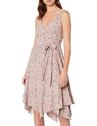 Dorothy Perkins Women's Snake Print Strappy Hanky Hem A-Line Dress, Brown (Brown 160), (Manufacturer Size:)