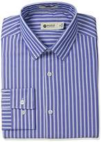 Haggar Men's Prep Stripe Point Collar Regular Fit Long Sleeve Dress Shirt