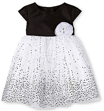 JCPenney Marmellata Black-and-White Party Dress - Girls Newborn-24m