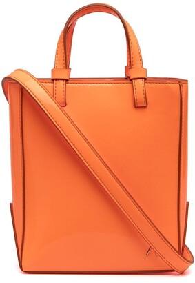 ATTICO Open-Top Leather Tote Bag