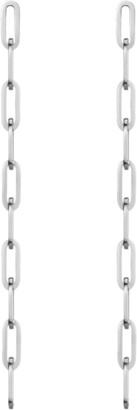 AUrate New York Sway Medium Chain Earrings Long