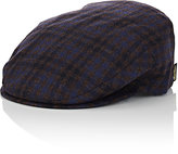 Borsalino Men's Wool-Cashmere Ivy Cap-BROWN, BLUE