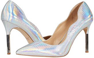 Badgley Mischka Riley II (Silver) Women's Shoes