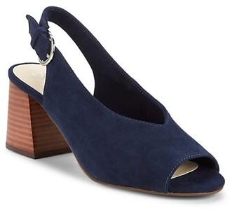 Seychelles Scriptive Suede Block-Heel Slingback Sandals