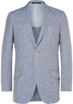Richard James - Blue Slim-fit Mélange Linen Blazer