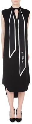 Givenchy Pussy Bow Logo Sleeveless Dress