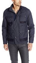 Calvin Klein Jeans Men's Coated Melange 4 Pocket Jacket