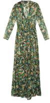 Saloni Alexia Palmier-print silk-georgette dress
