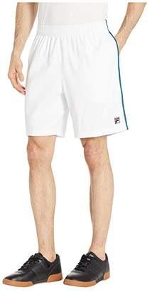 Fila Heritage Shorts (White/Turkish Tile Blue/Navy) Men's Shorts