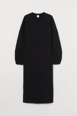 H&M Fine-knit Dress - Black