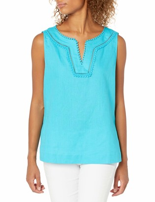 Pappagallo Women's Sleeveless EMB Tunic