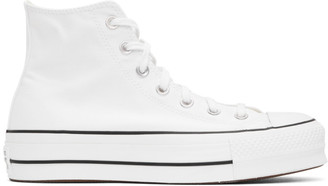 Converse White Chuck Taylor All Star Lift Platform High Sneakers