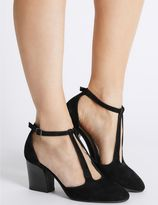 Marks and Spencer Suede Angular Heel Court Shoes