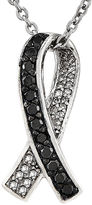 FINE JEWELRY 1/4 CT. T.W. White and Color-Enhanced Black Diamond Sterling Silver Pendant Necklace
