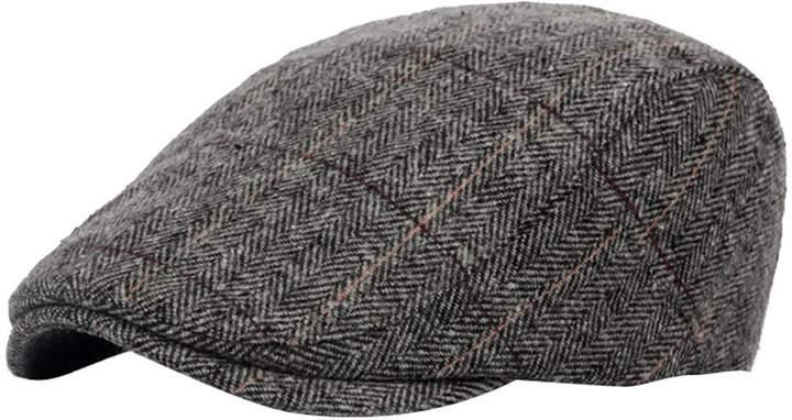 f3671bd358578 Mens Grey Tweed Cap - ShopStyle Canada