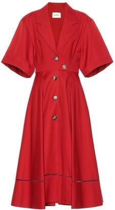 KHAITE Chloe cotton midi dress