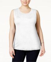 Alfani Plus Size Sleeveless Layering Tank, Only at Macy's