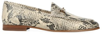 Sam Edelman Loraine Snakeskin-Embossed Leather Loafers