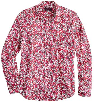 J.Crew Perfect Shirt in Liberty Wiltshire (Berry Multi) Women's Clothing