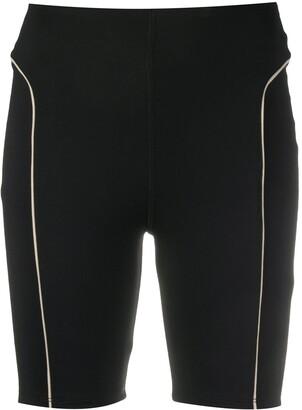 Esteban Cortazar Contrast Piping Biker Shorts