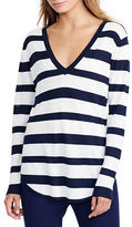 Lauren Ralph Lauren Petite Haivyn Striped Silk-Blend Sweater