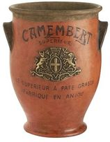 Pier 1 Imports Fromage Camembert Orange Vase