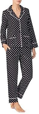 Kate Spade Brushed Twill Long Pajama Set