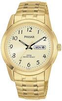 Pulsar Mens Gold-Tone Expansion Watch PJ6054