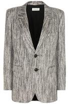Saint Laurent Metallic tweed blazer