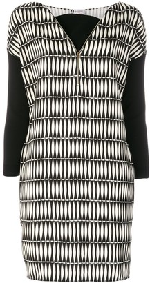 Lanvin Printed Panelled Dress