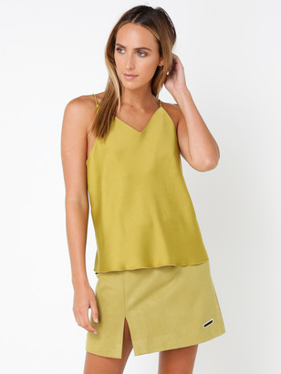 Interval Bias Cut Cami in Olive Green