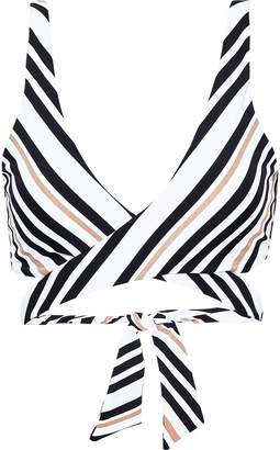 Jets Vista Metallic Striped Wrap Bikini Top