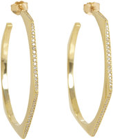 Jennifer Meyer Diamond Large Hexagonal Hoop Earrings