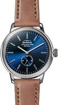 Shinola 42mm Bedrock Chronograph Watch, Midnight Blue/Natural