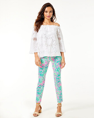 """Lilly Pulitzer 29"""" Kelly High Rise Skinny Ankle Pant"""