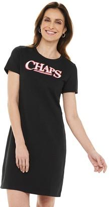 Chaps Women's Short Sleeve Logo T-Shirt Dress