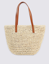 M&S Collection Straw Bucket Shopper Bag