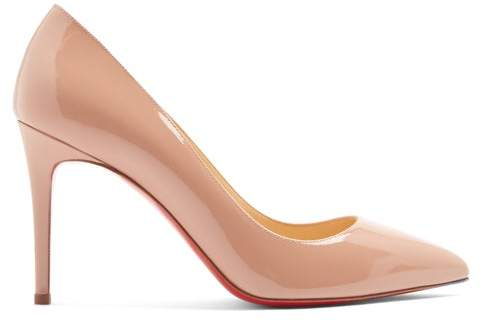 b35a3f647435 Christian Louboutin Nude Patent Pumps - ShopStyle