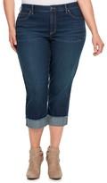JLO by Jennifer Lopez Plus Size Rockin Cuffed Capri Jeans